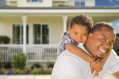 Home Insurance- Happy Father and Son